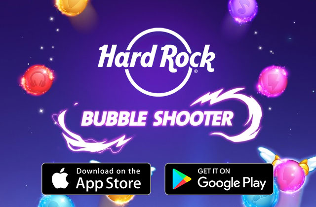 Hard Rock Bubble Shooter Mobile Game
